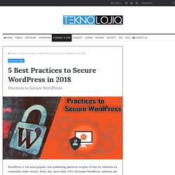 5 Best Practices to Secure WordPress in 2018