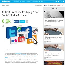 14 Best Practices for Long-Term Social Media Success