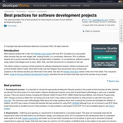 Best practices for software development projects