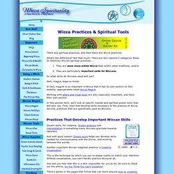 Wicca Practices & Spiritual Tools