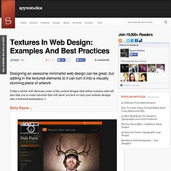 Textures In Web Design: Examples And Best Practices