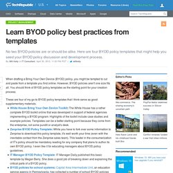 Learn BYOD policy best practices from templates