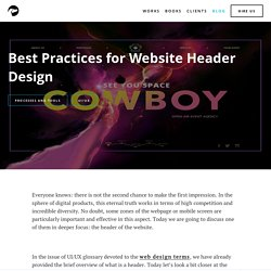 Best Practices For Website Header Design