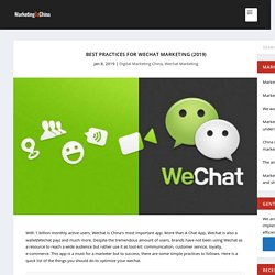 Best Practices For Wechat Marketing (2019) - Marketing China