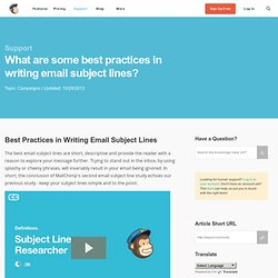 Best Practices in Writing Email Subject Lines