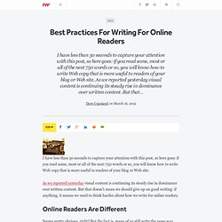Best Practices For Writing For Online Readers