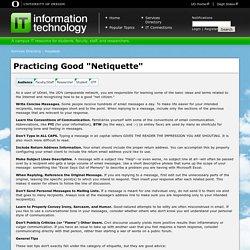 "Practicing Good ""Netiquette"""