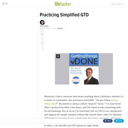 Practicing Simplified GTD
