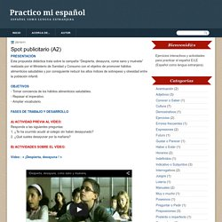 Practico mi español: Spot publicitario (A2)