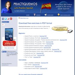 Download free Spanish Execises