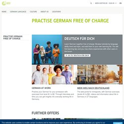 Practise German free of charge