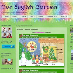 Our English Corner!: Practising Christmas Vocabulary