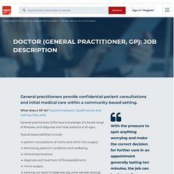 Doctor (general practitioner, GP): job description