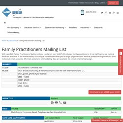 Family Practitioner Mailing Addresses