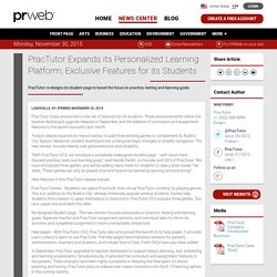 PracTutor Expands its Personalized Learning Platform; Exclusive Features for its Students