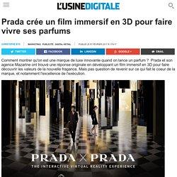 Prada crée un film immersif en 3D pour faire vivre ses parfums