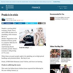 Prada and the luxury goods sector sales and results