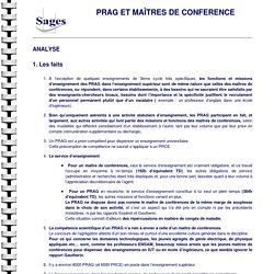 PRAG et maîtres de conférence