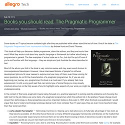 Books you should read: The Pragmatic Programmer