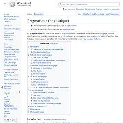 Pragmatique (linguistique)