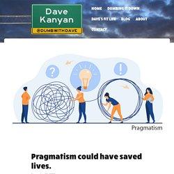 Pragmatism could have saved lives. - Dave Kanyan