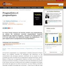 Pragmatistes et pragmatiques