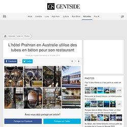 L'hôtel Prahran en Australie utilise des tubes en béton pour son restaurant