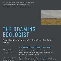 Why prairies matter and lawns don't – The Roaming Ecologist