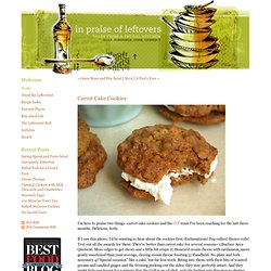 In Praise of Leftovers - iPol - Carrot Cake Cookies