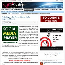 Praise Report: The Power of Social Media Empowered Prayer