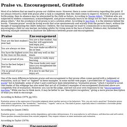 Praise versus Encouragement