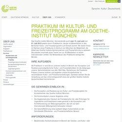 Praktikum im Kultur- und Freizeitprogramm am Goethe-Institut München