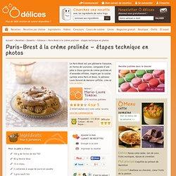 Paris-Brest à la crème pralinée - étapes technique en photos