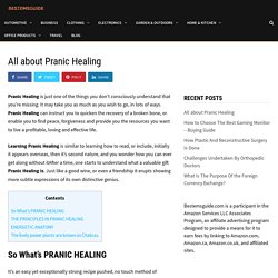 All about Pranic Healing - BestemsGuide