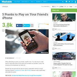 5 Pranks to Play on Your Friend's iPhone