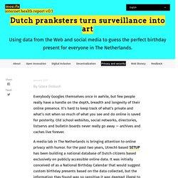 De la surveillance à la création artistique – Bulletin de santé d'Internet