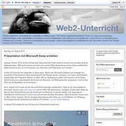 Web2-Unterricht: Präsentation mit Microsoft Sway erstellen