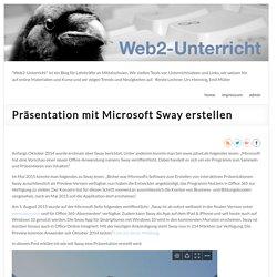 Präsentation mit Microsoft Sway erstellen