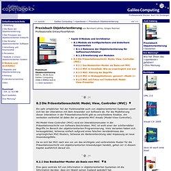 Praxisbuch Objektorientierung – 8.2 Die Präsentationsschicht: Model, View, Controller (MVC)