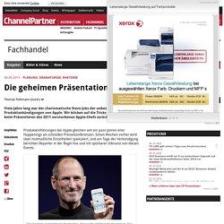 Planung, Dramaturgie, Rhetorik: Die geheimen Präsentationstricks von Steve Jobs - cio.de