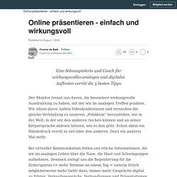 Online präsentieren - einfach und wirkungsvoll