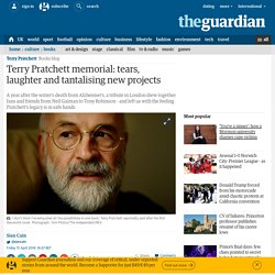 Terry Pratchett memorial: tears, laughter and tantalising new projects
