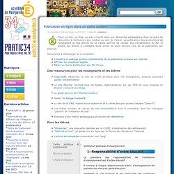 Pratic34 » Publication en ligne dans un cadre scolaire