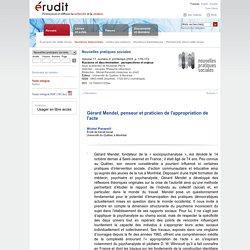 Gérard Mendel, penseur et praticien de l'appropriation de l'acte