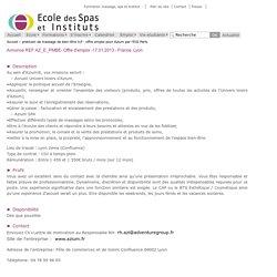 praticien de massage de bien-être h/f - offre emploi pour Azium par l'ESI Paris