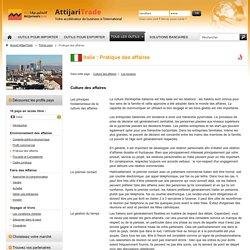 La pratique des affaires en Italie - AttijariTrade