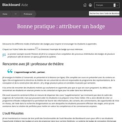 Article 21 Bonne pratique : attribuer un badge - Blackboard Help