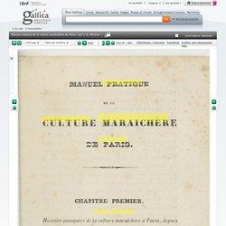Manuel, culture maraîchère de Paris, 1844