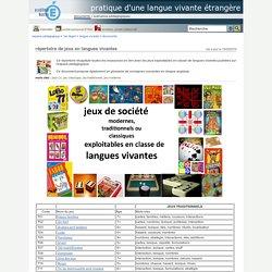 pratique d'une langue vivante étrangère - répertoire de jeux en langues vivantes