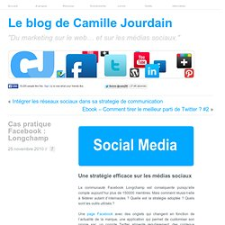 Cas pratique Facebook : Longchamp | LE MARKETING SUR LE WEB